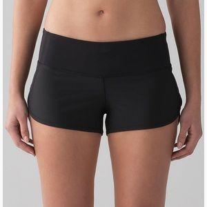 Black lululemon speed shorts